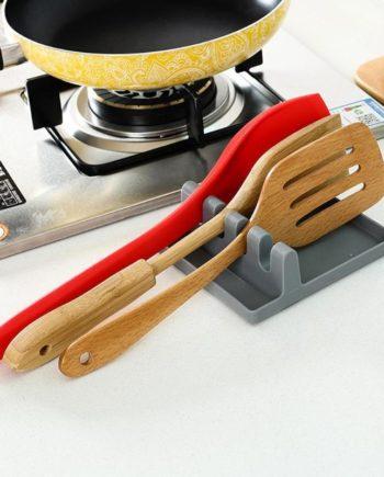 1 Pcs Küche Regal Spachtel Topf Deckel Halter Rack Abdeckung Deckel Spoonbill Sieb Pad Rest Stehen