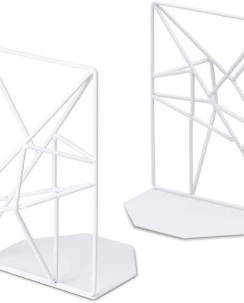 1 paar/2 Stück Weiß Buchstützen Dekorative Metall Buch Enden Unterstützt für Regale Einzigartige Ge