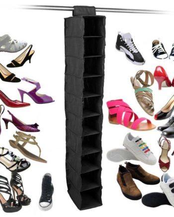 10 tasche Staub-beweis Schuh Kleidung Hängende Lagerung Rack Regal Tür Veranstalter