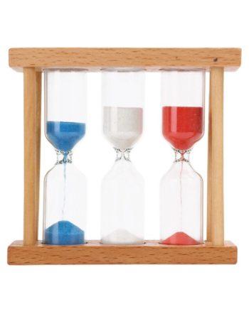 1/3/5 minuten Holz Rahmen Glas Sand Sanduhr Timer Uhr Home Schreibtisch Tabletop DIY Decor Kinder K