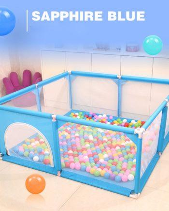 (Blau) 150Cm Baby Laufstall Zaun Spielplatz für Kinder Kleinkinder Sicherheitsbarriere Spiel Zelt