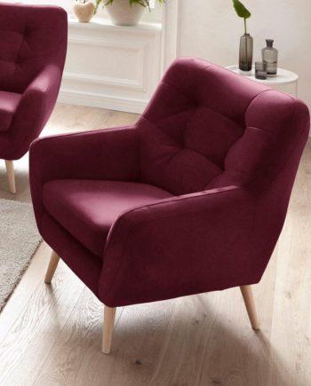 exxpo - sofa fashion Sessel, FSC®-zertifiziert, rot