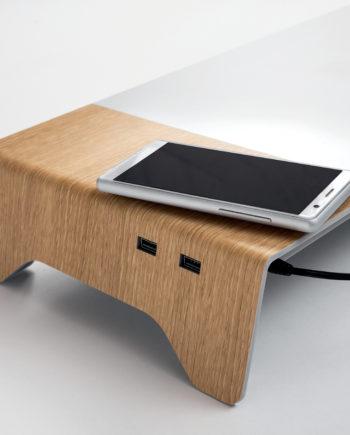 sigel Monitorständer smartstyle, USB und Induktionsladegerät