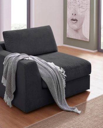 sit&more Sofa, 2-Sitzer, schwarz