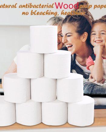 10 Rollen Ersatzrolle Papierpapier Toilettenpapier Tisch Küche Kernloses Papier