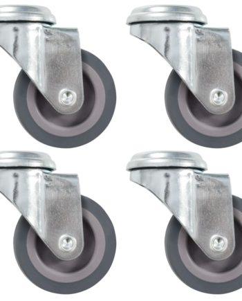 12 Stk. Lenkrollen mit Bolzenloch 50 mm