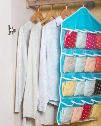 16 Grid Closet Organizer Lagerung box Kleidung Kleiderschrank Unterwäsche Socken Organizer Hängen T