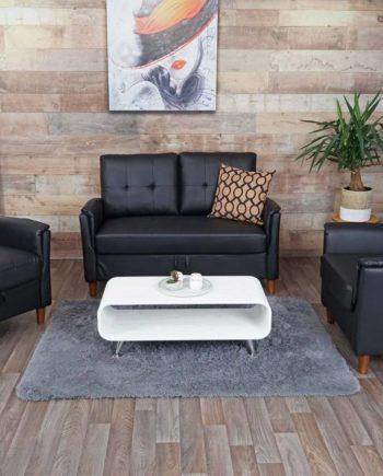 2-1-1 Couchgarnitur Hwc-H23, 2er Sofa Sofagarnitur Loungesessel Relaxsessel, Gastronomie Staufach ~