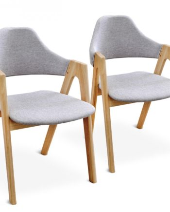 [2er-Satz]tomons Stuhl aus massivem Kautschuk-Holz Stuhl Moderne einfache Küche Wohnzimmer