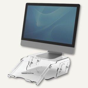 2in1 Monitorständer und Dokumentenhalter Clarity, klares Acryl, höhenverstellbar