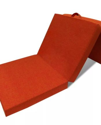3-teilige Klappmatratze 190×70×9 cm Orange