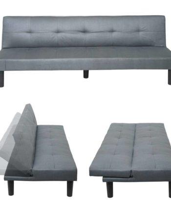 3er-Sofa Hwc-G11, Couch Schlafsofa Gästebett Bettsofa Klappsofa, Schlaffunktion 195cm ~ Stoff/Textil