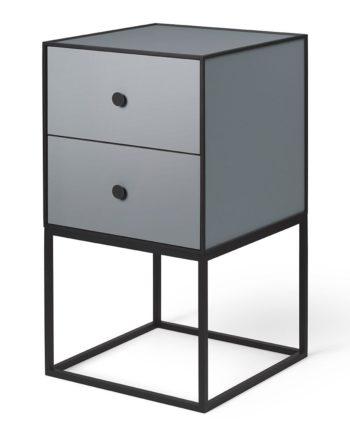 Frame 35 Beistelltisch mit zwei Schubladen Dunkelgrau