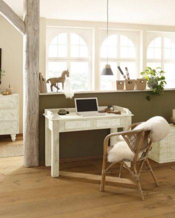 Home affaire Schreibtisch , FSC®-zertifiziert, weiß, Material Mangoholz