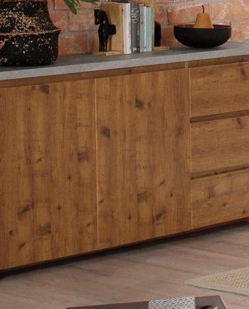 Home affaire Sideboard, 150x35x80 cm, Landhaus-Stil, beige