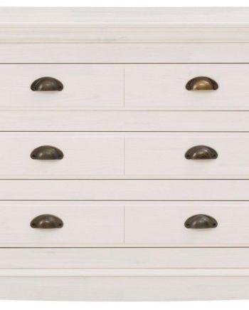 Home affaire Sideboard, 160x32x70 cm, Landhaus-Stil, weiß