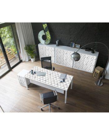 home24 Aktenschrank easyOffice Black/White II