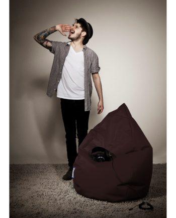 home24 SITTING POINT Sitzsack Bean Bag Brava Braun Flachgewebe 70x110x70 cm (BxHxT)