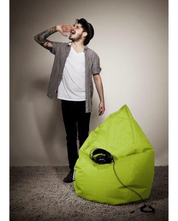 home24 SITTING POINT Sitzsack Bean Bag Brava Grasgrün Flachgewebe 70x110x70 cm (BxHxT)