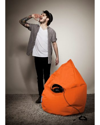 home24 SITTING POINT Sitzsack Bean Bag Brava Orange Flachgewebe 70x110x70 cm (BxHxT)