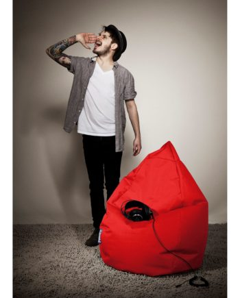 home24 SITTING POINT Sitzsack Bean Bag Brava Rot Flachgewebe 70x110x70 cm (BxHxT)