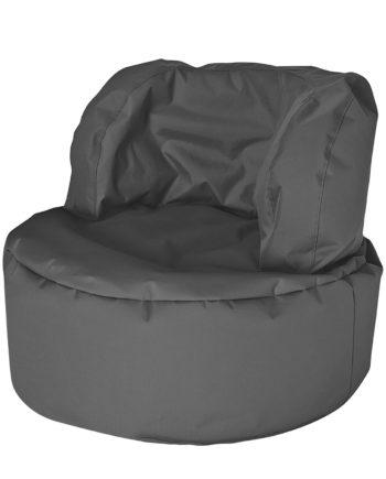 home24 SITTING POINT Sitzsack Bebop Uni Scuba Basalt Webstoff 85x65x85 cm (BxHxT)