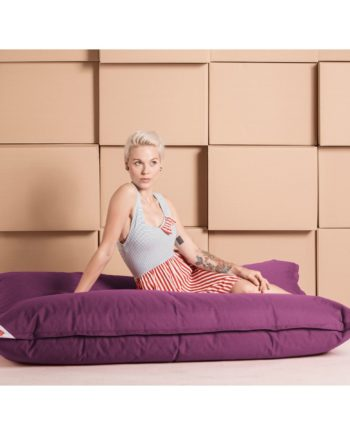 home24 SITTING POINT Sitzsack Big Bag Brava Lipstick Pink Flachgewebe 125x155x20 cm (BxHxT)