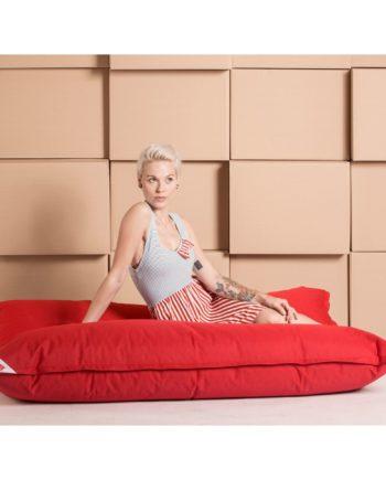 home24 SITTING POINT Sitzsack Big Bag Brava Rot Flachgewebe 125x155x20 cm (BxHxT)