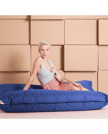 home24 SITTING POINT Sitzsack Big Bag Brava XL Meerblau Flachgewebe 130x170x20 cm (BxHxT)