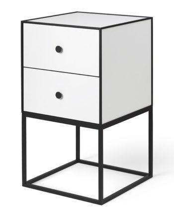 Frame 35 Beistelltisch mit zwei Schubladen weiß