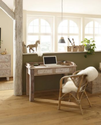 Home affaire Schreibtisch , FSC®-zertifiziert, braun, Material Mangoholz