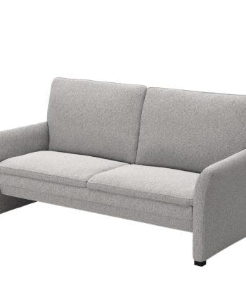 home24 Modoform Sofa Capoma I 2-Sitzer Hellgrau Webstoff 180x89x84 cm
