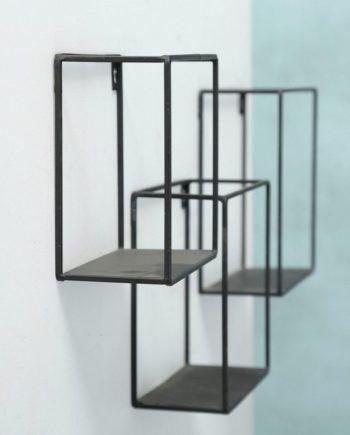 Wandregal, 3er Set, Material Metall