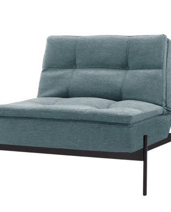 home24 Innovation Möbel Sessel Dublexo IV Blau Webstoff mit Schlaffunktion 90x79x88 cm (BxHxT)