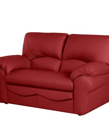 home24 Modoform Sofa Torsby 2-Sitzer Rot Echtleder 150x92x85 cm (BxHxT) Modern