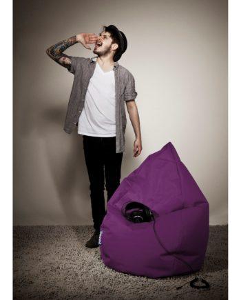 home24 SITTING POINT Sitzsack Bean Bag Brava Beere Flachgewebe 70x110x70 cm (BxHxT)