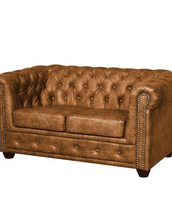 home24 ars manufacti Sofa Kamaru 2-Sitzer Cognac Kunstleder 148x72x86 cm