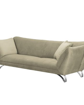 home24 loftscape Sofa Michie 3-Sitzer Sandgrau Microfaser 241x85x100 cm (BxHxT) Modern
